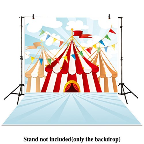 Allenjoy 5x7ft photography backdrops circus stratus Playground carnival Carousel Birthday Flag banner photo studio background newborn baby photocall