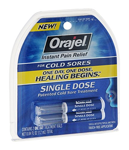 Price comparison product image Orajel Single Dose Cold Sore Treatment, Pack of 9