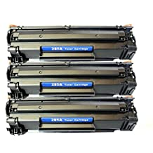 3 PACK SaveOnMany ® HP 85A CE285A 85 285A Black BK HP85A New Compatible Laser Toner Cartridge For HP LaserJet Pro M1210, M1212nf, M1217nfw MFP, P1100 Series, P1102 / LaserJet M1132, P1100 Series, P1102W - each 1,600 Pages Yield