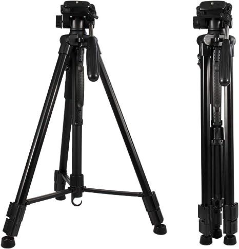 Aluminio Para Nikon Canon Sony y la mayoría de las cámaras DSLR approx. 157.48 cm Trípode Rótula 62 in