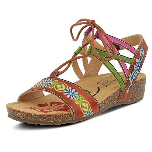 Spring Sandals L'Artiste Step Low Camel Loma Women's Heel Multi by pEqwdw60