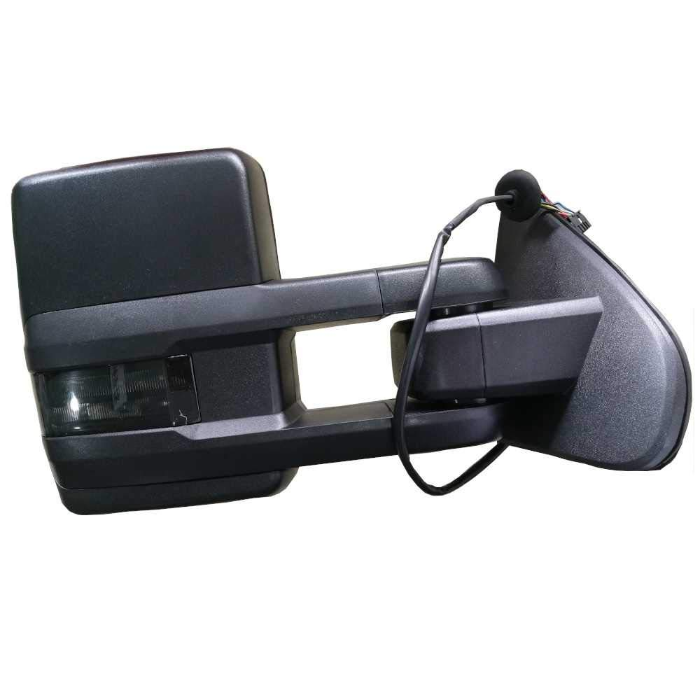 Prime Choice Auto Parts KAPB14ESHSM4R Power Towing Side View Mirror Heated With Signal Smoked