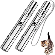 2Pcs Cat Toys for Indoor Cats, Interactive Funny Cat Stick for Indoor Cats and Dog Chase Catch Funny Toys, Kit
