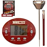 Digital Meat Thermometer - BBQ - Cooking - Instant Read with Stainless Steel Casing & Probe Grill Beast