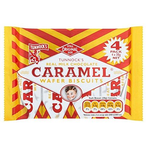 Chocolate con leche de Tunnock Caramel Obleas 4 x 26,5 g: Amazon.es: Alimentación y bebidas