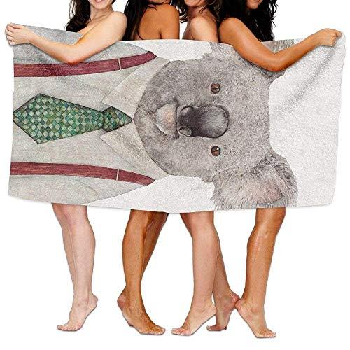 JOMYY-bath-towels Toalla de Playa para natación, Surf, Gimnasio, SPA con Estampado de Microfibra de Koala