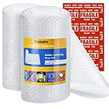 """Fuxury Bubble Cushioning Wrap Roll Air Bubble Roll 2 Rolls 72 Feet Total,Perforated Every 12"""",Included 20 Fragile Sticker Labels for Packaging Moving Shipping Boxes Supplies: more info"""