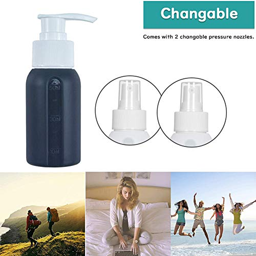 Silicone Spray Bottle, Empty Bottles for Travel Cosmetic Fine Mist Small Leakproof Portable Bottle Sets 4 Pack (50ml)
