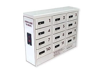 BATTEVER - Taquilla cargador 6 compartimentos para teléfonos ...