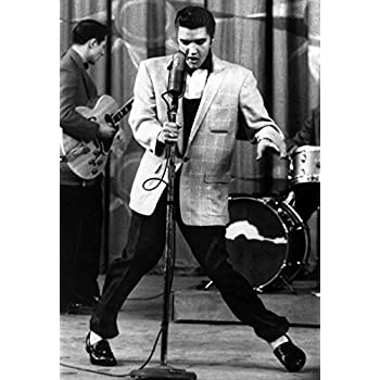 Elvis Presley Poster Dancing Live In Concert Shake Rattle And Roll