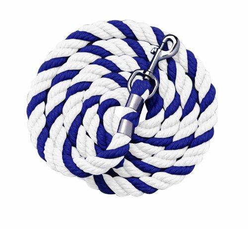 (Perri's Cotton Multi-Colored Leads, Navy/White, 6-Feet)