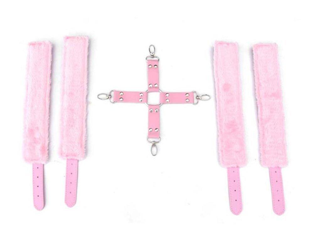 Juguetes Sexuales Cruz Esposas Tobillo Cuero Felpa Simple Edition Rojo Dispositivo De Sujeción Macho Mujer Adulto Productos Rosa Rojo Edition Negro,Pink ffc985