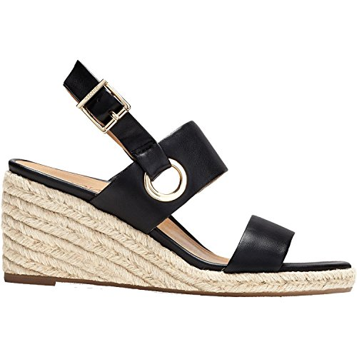 Vionic Tulum Vero - Womens Wedge Sandal Black - 9 Medium by Vionic