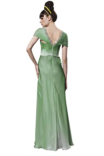 Kingmalls Womens Ombre Green A-Line Long Prom Evening Dress (XX-Large): Amazon.co.uk: Clothing