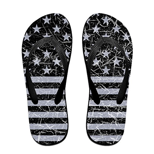 Retro Distressed Usa Flag Patriotic Unisex Fashion Beach Slipper Indoor And Outdoor Classical Flip Flop Thong Sandals L (Tiger Flip Sandals)