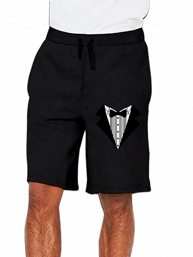 JiJingHeWang Great Tuxedo Mens Casual Shorts Pants
