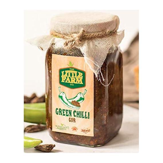 Green Chilli Jaggery Pickle/ Hari Mirch Gur Ka Achar 400 gm - Homemade, Farm Fresh, Preservative Free & Traditional