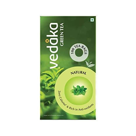 Amazon Brand � Vedaka Green Tea, Natural, 100 Bags