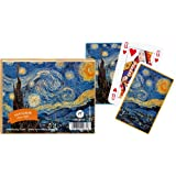 Van Gogh Starry Night Playing Cards Set of 2 Decks Piatnik