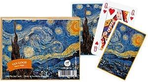 Van Gogh Starry Night Playing Cards Set of 2 Decks Piatnik