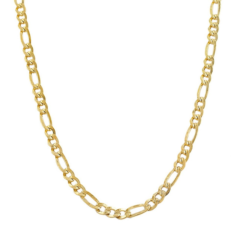 14k Yellow Gold Figaro 100 4.50MM 26'' Chain
