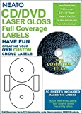 Best CD Labels For Lasers - Neato CD/DVD Laser Gloss Full Coverage Labels – Review
