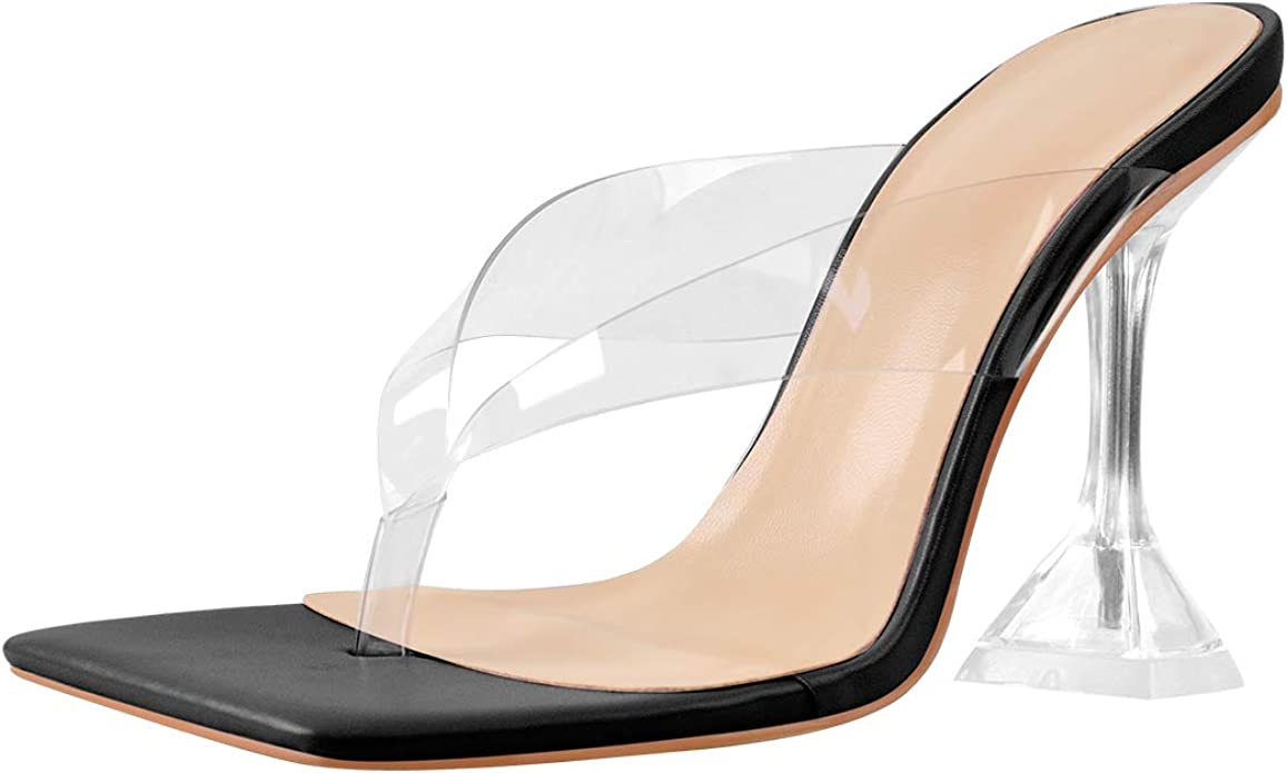 Details about  / Ladies Pointed Toes Shoes Hollow Out Slingbacks Sandals Slip On Stilettos Mules