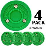 Green Biscuit Original Hockey Training Puck Passing, Toe Drag stickhandling(Color Choice)