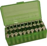 MTM 50 Round Flip-Top Ammo Box 380/9MM Cal (Clear Green), Outdoor Stuffs