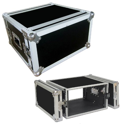 6 Space 6u 15 Inch Deep Heavy Duty 3/8 Ply ATA Effects Rack Case - Closeout
