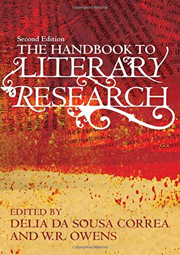 Book cover from The Handbook to Literary Research by Carol Patterson