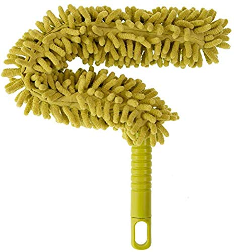 Microfiber Chenille Flex &Stay Ceiling Flat Hand Duster-Xtra Long -Great For Blinds Appliances, Shutters, Cobwebs, Chandelier,Cars, Delicate Surface-Assorted Colors Randomly Shipped - 1 Pk./ 23