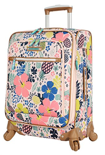 Spinner Ladies (Lily Bloom Luggage Carry On Expandable Design Pattern Suitcase For Woman With Spinner Wheels (Trop Pineapple, 20in))