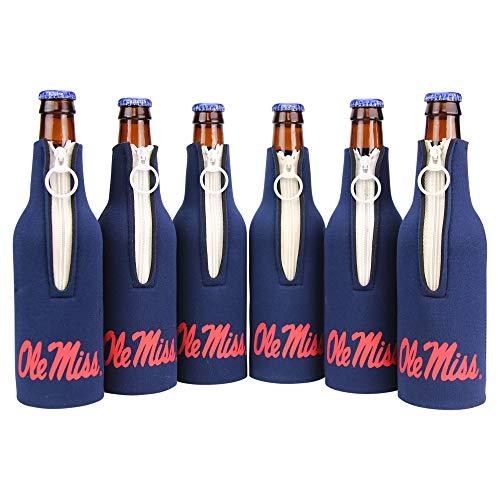 Kolder NCAA Collegiate 6 Pack Bundle Neoprene Bottle Coozies (Ole Miss Rebels (Text))