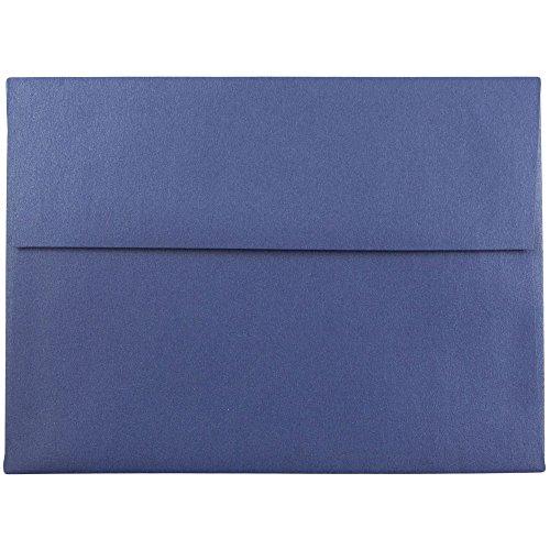 JAM PAPER A7 Metallic Invitation Envelopes - 5 1/4 x 7 1/4 - Sapphire Blue Stardream - - Envelopes Stardream A6 Metallic