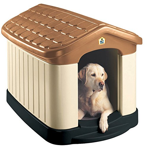 Insulated House (Tuff-N-Rugged Large All Weather Double Insulated Dog House with Fade-resistant Colors with UV Protection)