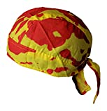 Tie Dye Bandana Skull Cap Doo Rag for Hulk Hogan Mens Costume