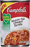 Campbell's  Condensed Healthy Request  Mexican-Style Chicken Tortilla Soup puts a flavor-packed spin on a classic with bold Mexican-inspired ingredients like corn, red peppers and lime. Enjoy these hearty-healthy spoonfuls loaded with pizzazz...
