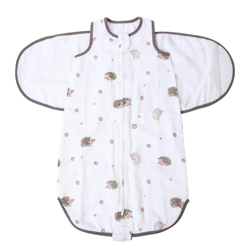 Verstellbare SommerSchlafsack Decke Pucktuch f/ür S/äuglinge Babys Neugeborene Unisex aus Baumwolle Gr/ün 0-3 Monate Baby Pucksack Neugeboren