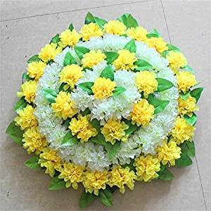 ZJJFZH Artificial Decorative Flowers Simulation Chrysanthemum Blue Qingming Festival Sweeping Graveyard Cemetery Placed Artificial Flower Basket Flower Products Include:Decorative Artificial Flowers 2