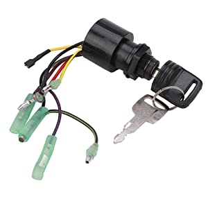 87-17009A2 Boat Engine Starter Ignition Key Switch Replacement for Mercury Outboard Motor Control Box 3 Position 6 Wire Replace Sierra MP41070-2, MP41070, MP41070-1