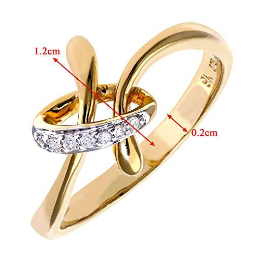 Bague Femme - Or Jaune 375/1000 (9 Cts) 2.2 Gr - Diamant