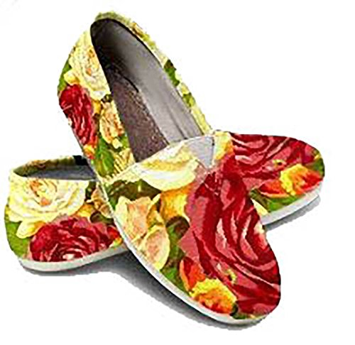 Toms Style Floral Shoes, Womens Canvas Shoes, Girls Slip On Shoes, Womens Casual Shoes ()