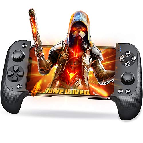 Mobile Game Controller, Mobile Controller for PUBG Mobile and Android Game Controller for Android/iOS/iPhone/iPad(Black)