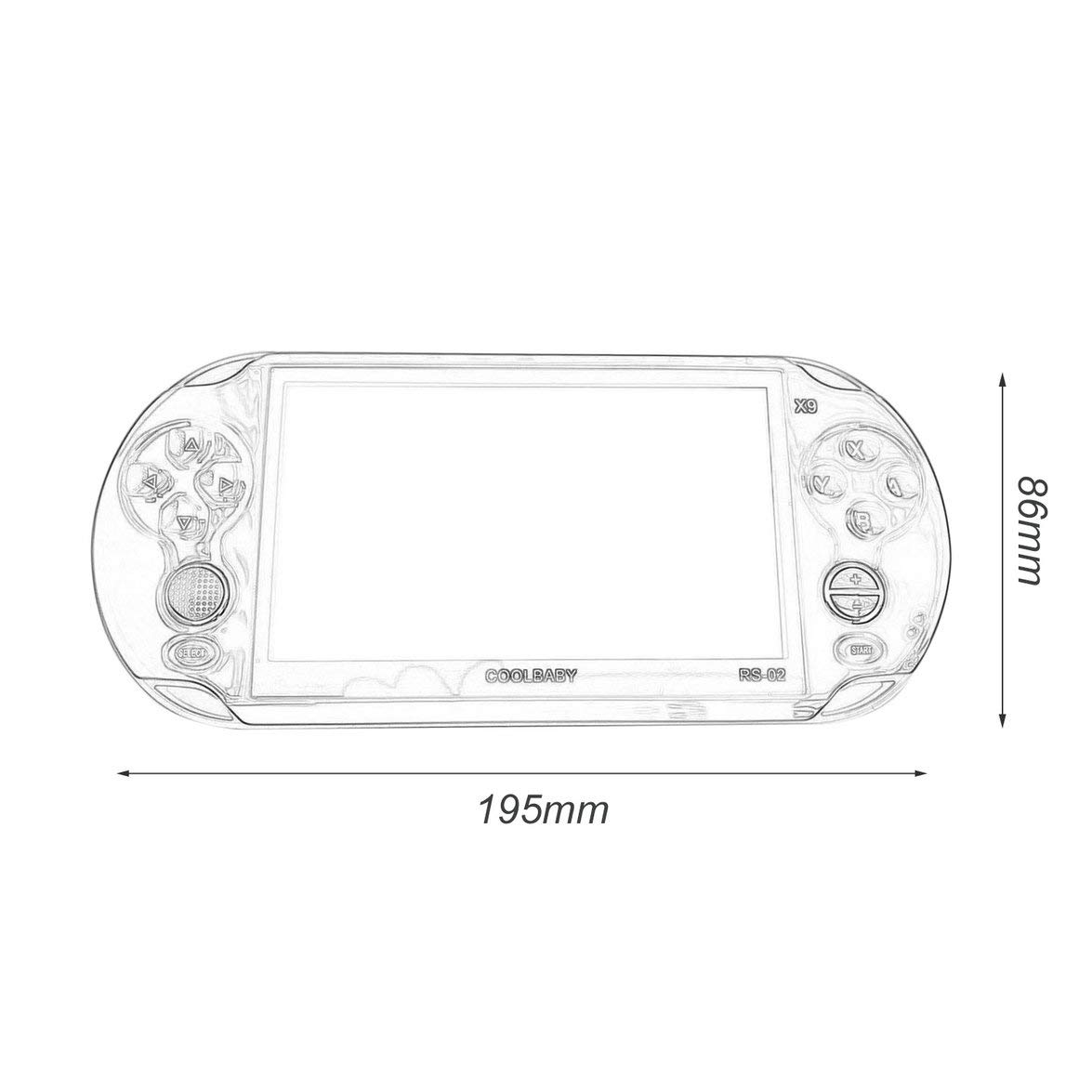 Pandamama Portable Size 5.0 Inch Large Screen 8GB Game Console Handheld Game Player MP3 Player Gamepad with Classic Games by Pandamama (Image #6)