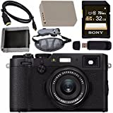 Fujifilm X100F Digital Camera (Black) 16534651 + NP-W126 Lithium Ion Battery + Sony 32GB SDHC Card + Micro HDMI Cable + Memory Card Wallet + Card Reader + Hand Strap Bundle