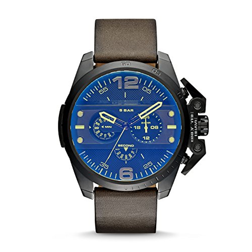 (Diesel Men's DZ4364 Ironside Stainless Steel Watch with Leather)