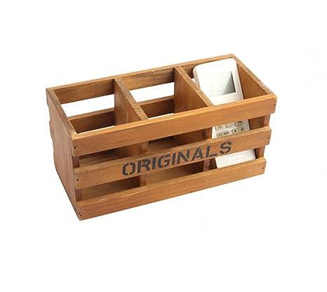 Gespout de Madera de Almacenamiento de Escritorio multifunción cofres Cajas Cajas rectangulares para suculentas papelería Escritorio