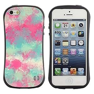 "Hypernova Slim Fit Dual Barniz Protector Caso Case Funda Para Apple iPhone SE / iPhone 5 / iPhone 5S [Pintura Primavera Naturaleza Arte""]"