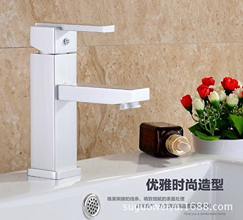 Furesnts Modern home kitchen and Bathroom Sink Taps Space aluminum basin mixer taps hot and cold wc single hole water Taps aluminum Bathroom Sink Taps,(Standard G 1/2 universal hose ports)